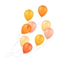 Orange Yellow Balloons Isolated Background vector image vector image