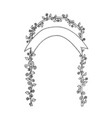 outline arch vector image