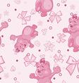 Pattern for Newborn Girl vector image vector image
