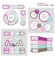 process chart module infographic set vector image