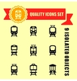quality trains icon set vector image vector image