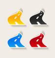 realistic design element road vector image vector image
