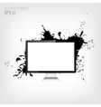 Realistic detalized flat monitor with abstract vector image vector image