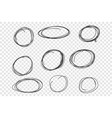round chaotic scribble frames set vector image vector image