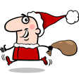 running santa claus cartoon vector image vector image