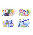 scientific laboratory flat set vector image