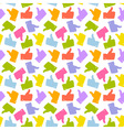 Seamless Pattern Colorful Thumb Up Icon vector image vector image