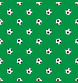 seamless pattern with soccer ball vector image