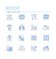 set color line icons roof vector image
