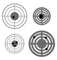 set of different using targets vector image