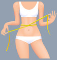 sexual womans body in underwear with waist vector image