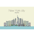 skyline of new york city vector image vector image