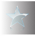 star glass banners shine shape template on vector image vector image