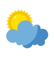 sun and cloud icon isolated vector image vector image