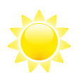 sun glossy icon - summer and vacation symbol vector image vector image
