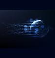 technological interface access global platform vector image