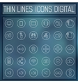 thin line digital gadget set icons concept vector image vector image