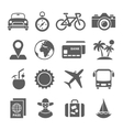 Traveling and transport icons for Web Mobile App vector image vector image