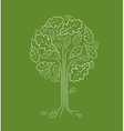 vintage abstract tree vector image vector image