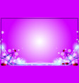 violet merry christmas modern frame background vector image