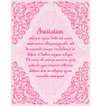 Wedding invitation or greeting card with lace vector image vector image