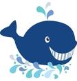 Whale cartoon vector image