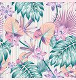 winter tropical pattern seamless stripe background vector image vector image