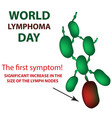 world lymphoma day increase size of lymph nodes vector image vector image