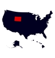 Wyoming State in the United States map vector image