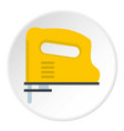 yellow pneumatic gun icon circle vector image vector image
