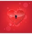 Red shiny heart lock shape vector image