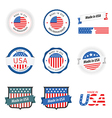 Made in USA labels badges and stickers vector image