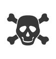 Skull icon Death design graphic vector image