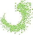 Green leaves on white vector image