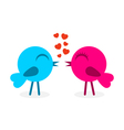 2 falling in love birds vector image vector image