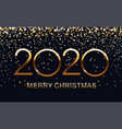 2020 happy new year merry christmas elegant text vector image