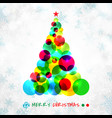 abstract christmas tree symbol made colorful vector image