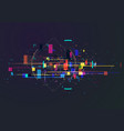 abstract techno background futuristic abstract vector image