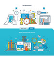 analysis and market research time management vector image vector image