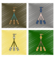 assembly flat shading style icon technology tripod vector image vector image