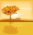 autumn landscape tree rural scenery outdoor yellow vector image vector image