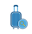 baggage luggage search sign suitcase vector image vector image