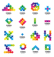Big collection of logos of abstract modules vector image vector image