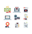 blogging concept icon marketing content vector image vector image