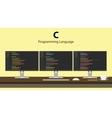 C programming language code vector image vector image