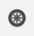 car wheel simple icon - car service sign vector image vector image