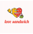Cartoon Love sandwich vector image