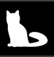 cat the white color icon vector image vector image