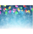 Christmas garland on blue background vector image vector image