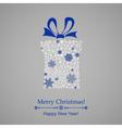 Christmas gift box of snowflakes vector image vector image